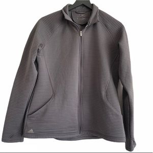Adidas Gray Quilted Golf Jacket Size Large